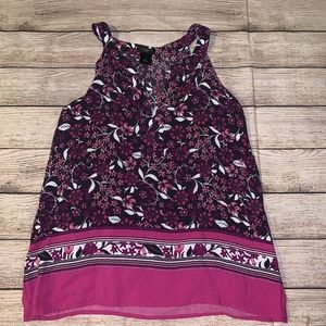 Ann Taylor Petite Floral Sleeveless Top